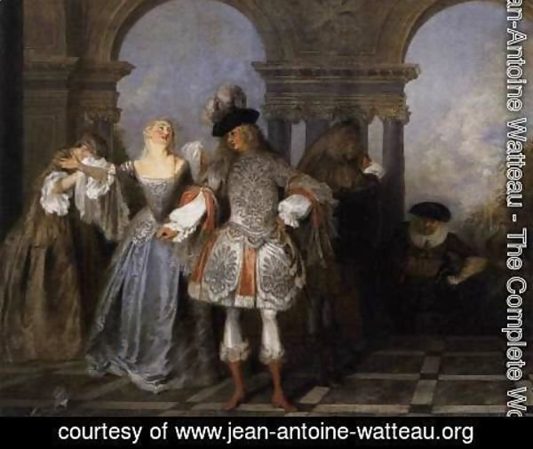 Jean-Antoine Watteau - Actors from the Comédie Francaise c. 1720