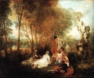Jean-Antoine Watteau - The Festival of Love c. 1717