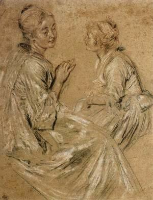 Two Seated Women 1716-17