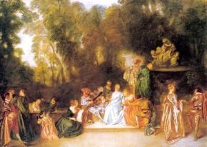 Jean-Antoine Watteau - Entertainment in the Open Air 1721