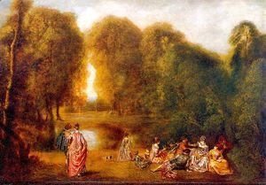 Gathering in a Park 1718