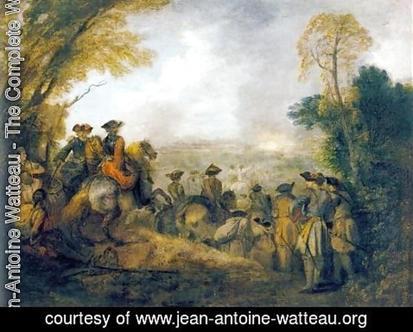 Jean-Antoine Watteau - On the March 1710