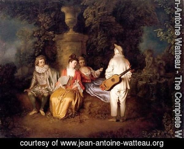Jean-Antoine Watteau - Party of Four 1713