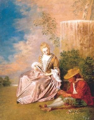 Jean-Antoine Watteau - The Anxious Lover 1719