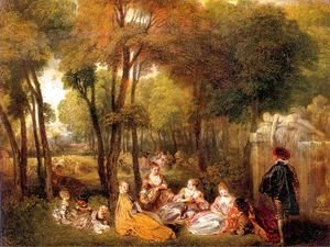 Jean-Antoine Watteau - The Champs-Elysees 1719