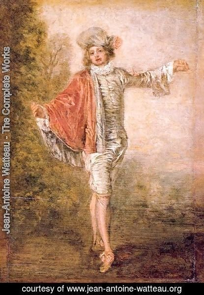 Jean-Antoine Watteau - The Indifferent Man 1717