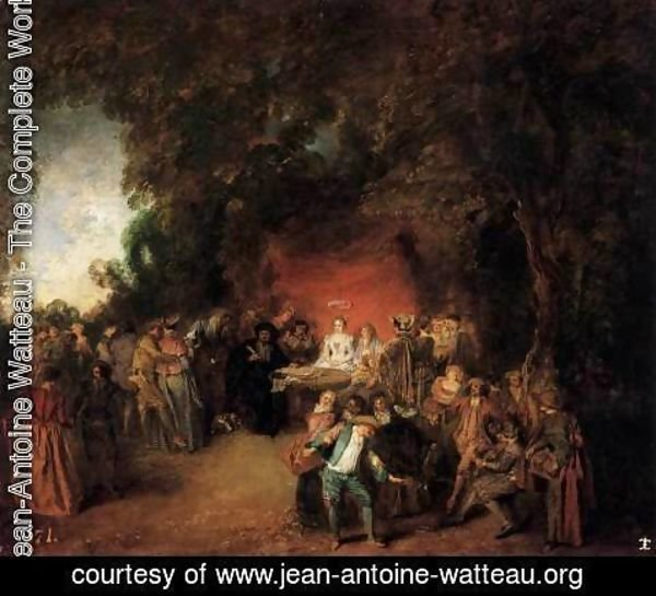 Jean-Antoine Watteau - The Marriage Contract 1713