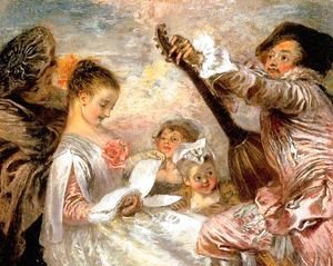 Jean-Antoine Watteau - The Music Lesson 1719