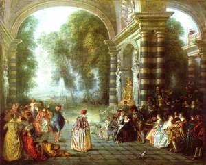 Jean-Antoine Watteau - The Pleasures of the Ball 1717