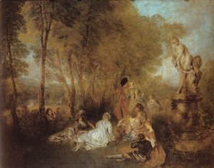 Jean-Antoine Watteau - La Fête d'amour (The Festival of Love)