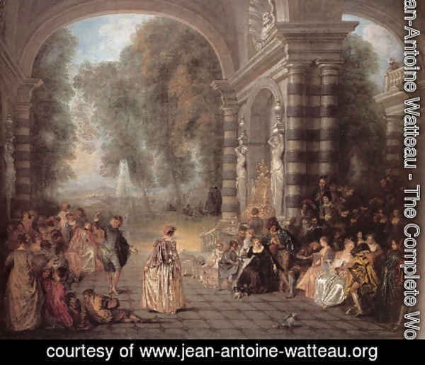 Jean-Antoine Watteau - Les Plaisirs du bal (Pleasures of the Ball)