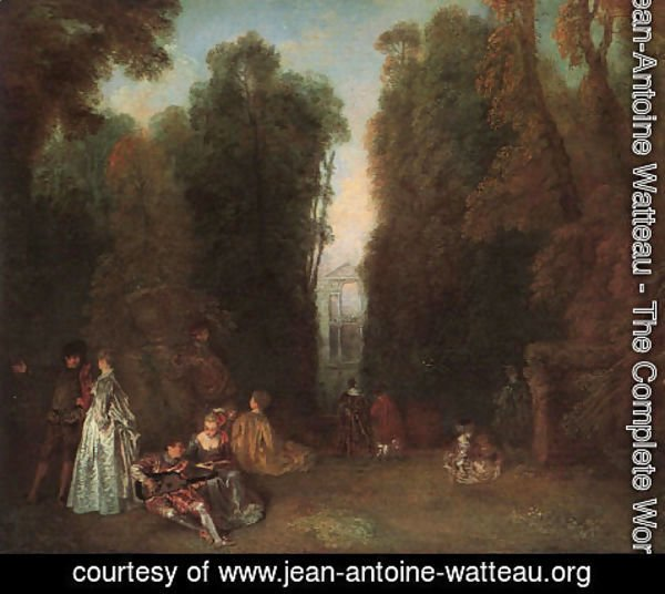 Jean-Antoine Watteau - View Through the Trees in the Park of Pierre Crozat (or La Perspective)