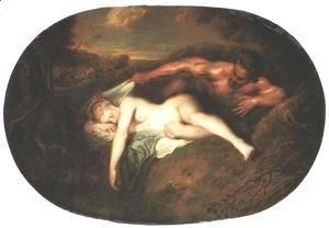Jean-Antoine Watteau - Nymph and Satyr