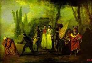 Jean-Antoine Watteau - Satire on Physicians