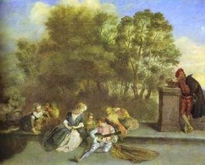 Jean-Antoine Watteau - Recreation Italienne