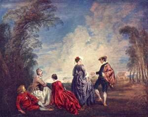 Jean-Antoine Watteau - The verlegene request