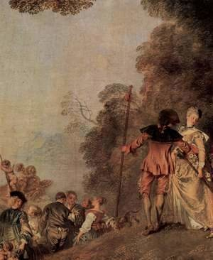 Jean-Antoine Watteau - The Embarkation of Cythera (detail 2)