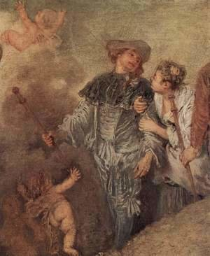 Jean-Antoine Watteau - The Embarkation of Cythera (detail 4)