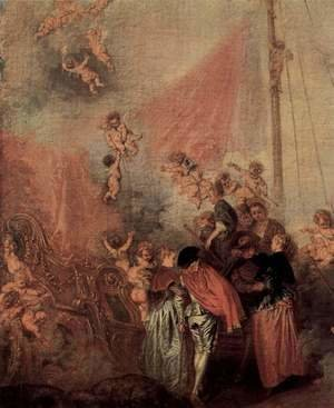 Jean-Antoine Watteau - The Embarkation of Cythera (detail 5)