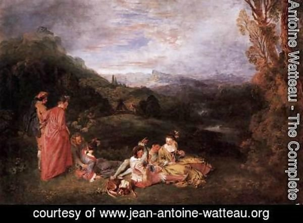 Jean-Antoine Watteau - Peaceful Love