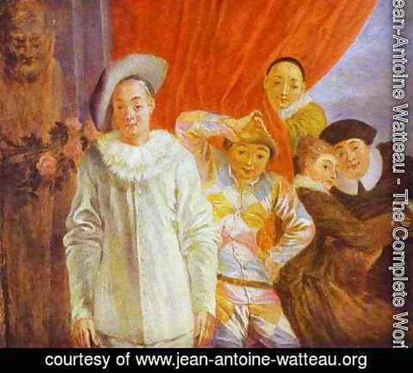 Jean-Antoine Watteau - The Complete Works - Arlequin Pierrot And ...