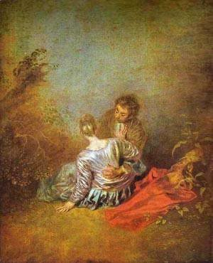 Jean-Antoine Watteau - Le Faux Pas (The Mistaken Advance) 1717