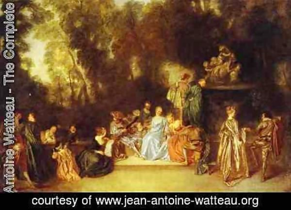 Jean-Antoine Watteau - Party In The Open Air 1718-20