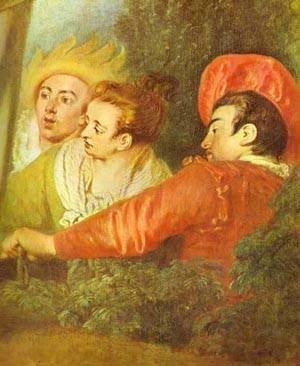 Jean-Antoine Watteau - Pierrot Also Known As Gilles Detail 1721