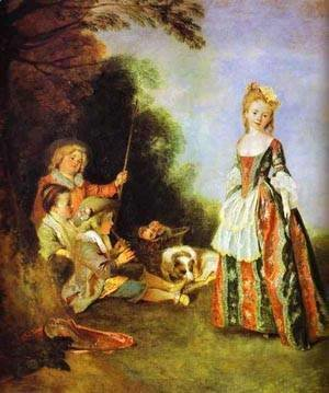 Jean-Antoine Watteau - The Dance Detail 1719