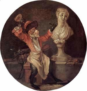Jean-Antoine Watteau - The Monkey Sculptor 1710