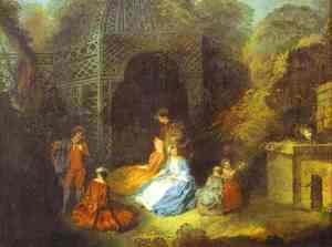 Watteau Or His Circle The Flautist