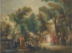Jean-Antoine Watteau - The garden party