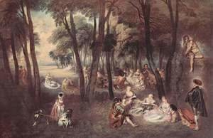 Jean-Antoine Watteau - Outdoor fun (Amusements champetres)