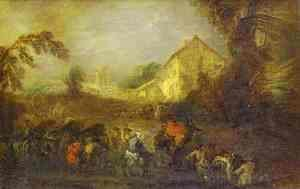 Jean-Antoine Watteau - The Hardships of War
