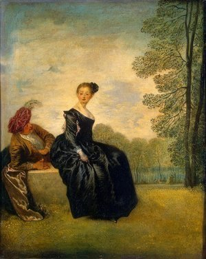 Jean-Antoine Watteau - The Capricious Girl
