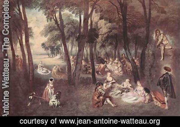 Jean-Antoine Watteau - Entertainment countryside