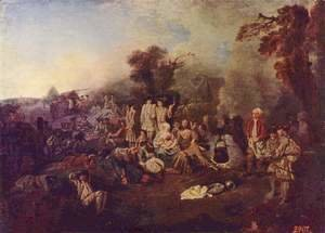 Jean-Antoine Watteau - The Camp