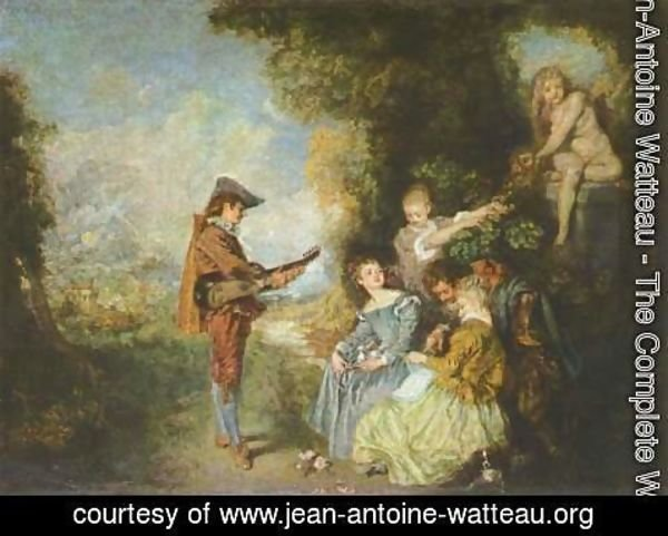 Jean-Antoine Watteau - The Lesson of Love