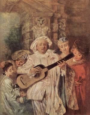 Jean-Antoine Watteau - Gilles and his Family c. 1716