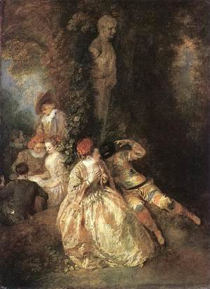 Jean-Antoine Watteau - Harlequin and Columbine 1716-18
