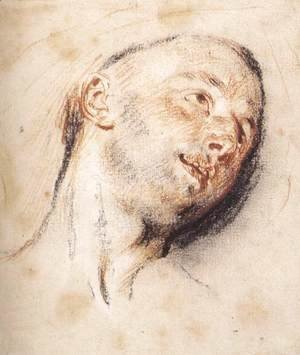 Jean-Antoine Watteau - Head of a Man