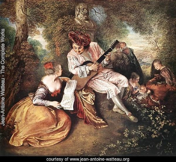 'La gamme d'amour' (The Love Song) c. 1717