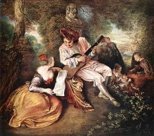 Jean-Antoine Watteau - 'La gamme d'amour' (The Love Song) c. 1717