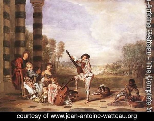 Jean-Antoine Watteau - Les Charmes de la Vie (The Music Party) c. 1718
