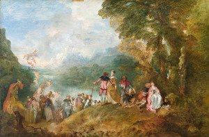 Jean-Antoine Watteau - The Embarkation for Cythera 1717