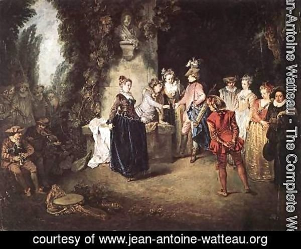 Jean-Antoine Watteau - The French Comedy 1714