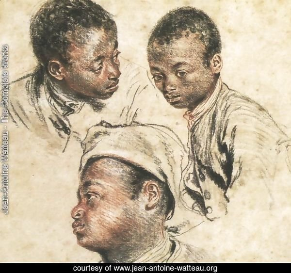 Three Studies of the Head of a Young Negro