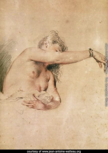 Female Nude with Right Arm Raised
